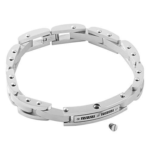 Urne urnhanger mode motorfiets ketting armband heren roestvrij staal fiets schakelketting armband meorial as aandenken urne armband