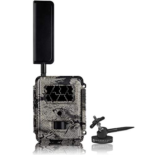 New Spartan 4G LTE GoCam Verizon Wireless Trail Camera with Spartan Quick Aim Mount, Motion Activated Night Vision Game Camera Comes with IP65-rating Water-Resistant Construction. Color(Blackout)