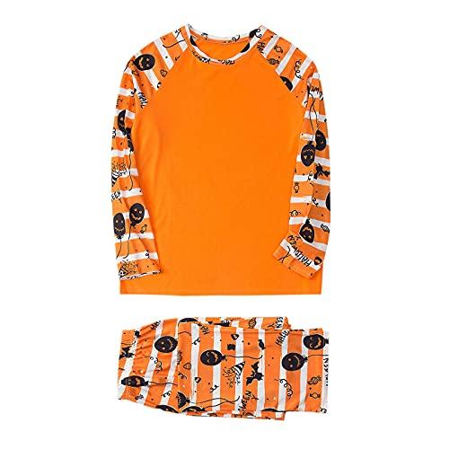 Familie Pyjamas Halloween Pyjamas Kostüme Kürbis Nachtwäsche Outfits Passendes Set Familien-Matching T-Shirt Papa Mama Kinder Kleidung Langarm Sweatshirts