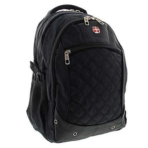 Laptop Rucksack Back Pack Daypack Multifunktionsrucksack hochwertig Business Arbeit Uni Schule Reise 30L schwarz