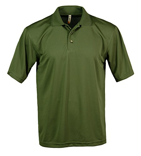 Akwa Men's Bamboo Polo Made in USA Olive