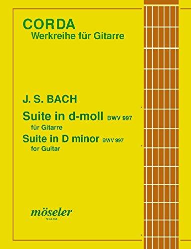 Suite d-Moll (orig. c-Moll): BWV 997. Gitarre. (Corda)