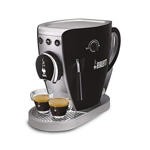 Bialetti Tazzissima Black, Macchina Caffè Espresso, Pompa 20 bar, Sistema Aperto (per Macinato, Capsule Bialetti e Cialde)