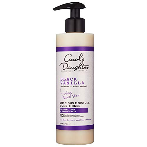 Carol's Daughter Black Vanilla Moisture & Shine Hydrating Hair Conditioner for Dry Hair and Dull Hair, with Shea Butter, Biotin and Vitamin B5, 12 fl oz