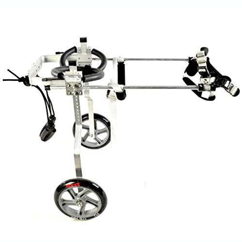 MCSHGPETY Hunderollstuhl Pet Rollstuhl Einstellbare Hund Rollstuhl behinderter Hund Assisted-Weg Auto Hind Leg Übung Auto (Color : Black, Size : XXXS)