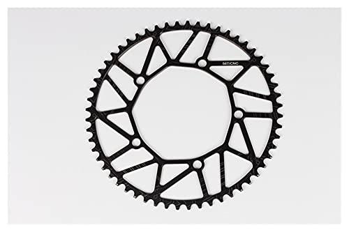 HIXISTO Plato para Bicicleta,Plato De Dientes 130BCD 9 10 11 Velocidad Hollow CNC Aleación de la aleación de un Solo Disco Road Cadena Plegable Cadena de la Rueda de la Rueda del Plato (Color : 56T)