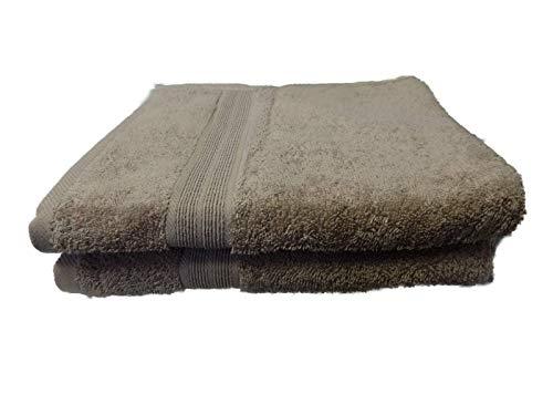 Handdoek, pak van 2, 50x100 cm, 100% katoen, beige