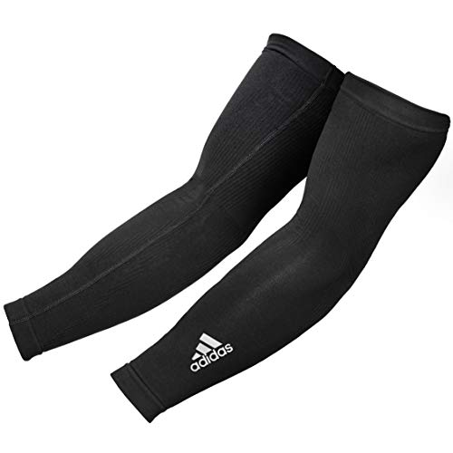 adidas Compression Arm Sleeves Mangas de compresión, Unisex Adulto, Negro, S/M