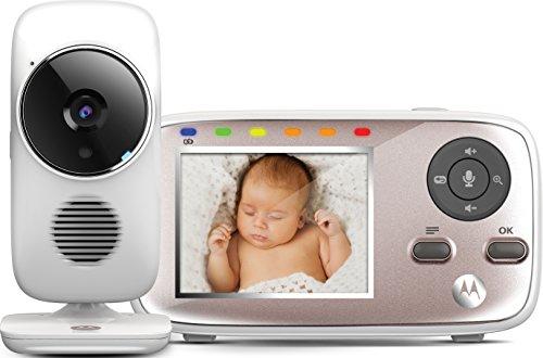 Motorola MBP667 Connect - Vigilabebés Vídeo Wi-Fi con Pantalla LCD a Color de 2.8', Modo Eco, Alertas para Movimiento, Sonido y Temperatura Ambiente, Blanco