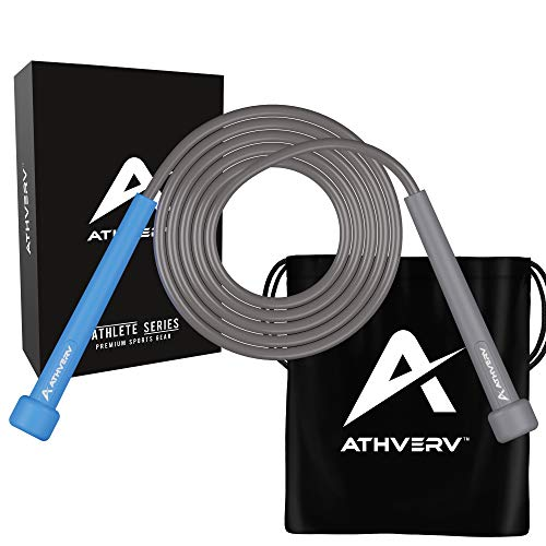 Athverv Adjustable Skipping Rope (Blue/Grey)