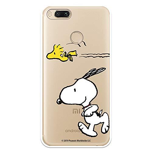 Funda para Xiaomi Mi A1-Mi 5X Oficial de Snoopy Woodstock y Snoopy Corriendo para Proteger tu móvil. Carcasa para Xiaomi de Silicona Flexible con Licencia Oficial de Peanuts.