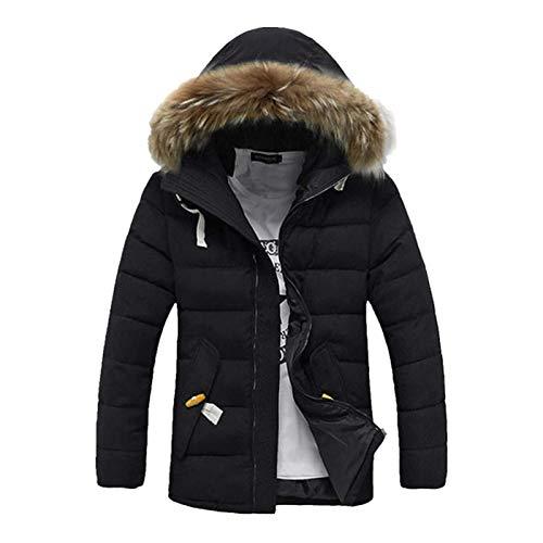 Herren DaunenjackeWinddichte Winter Thick Warm Furry Hood Parka Jacke Für Herren Für Winterreisen Zu Fuß