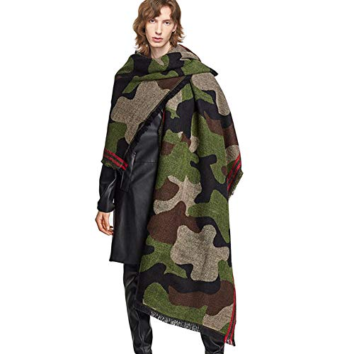 Amazon - Cashmere Wool Camouflage Scarf $10.47