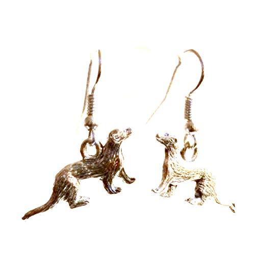 Pewter Ferret Earrings Custom 125