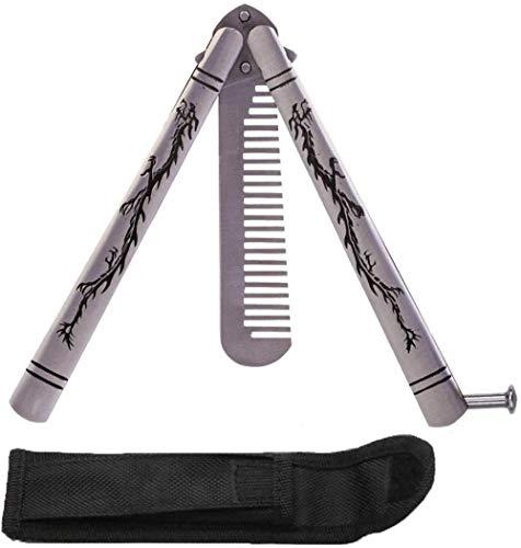Pratique En Acier Inoxydable Pliant Papillon Formateur Couteau Peigne Forme Formation Couteau Outil Kit Dragon Carve (Peigne)