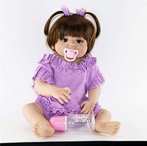Unexceptionable-Dolls Lebensechte 23Newborn kann volle Silikon Reborn Puppen Baby Adorable lebensechte Prinzessin stilvolle Weihnachtenfür MädchenWeihnachten Geburtstagsgeschenke für Kinderbaden