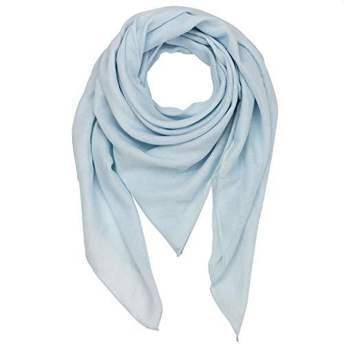 Superfreak Baumwolltuch - blau - zartblau - quadratisches Tuch