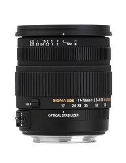 Sigma 17-70/2.8-4 DC OS HSM - Objetivo para Nikon (Distancia Focal 17-70mm, Apertura f/2.8-4, estabilizador óptico, Macro, diámetro: 72mm) Color Negro (B002ZNJB2S) | Amazon price tracker / tracking, Amazon price history charts, Amazon price watches, Amazon price drop alerts