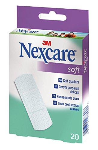 Nexcare N0520NS1 3M Pflaster Soft, weiß, 20 Streifen … 25 x 72 mm