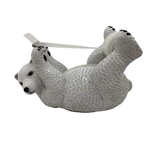 Polar Bear Tape Dispenser - Fun Desk Accessories & Office Supplies - Create a Super Fun and Cute Space in Your Working Area (Polar Bear)