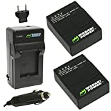 Wasabi Power Battery (2-Pack) and Charger for GoPro HERO3+, HERO3 and GoPro...