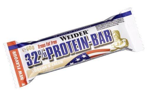 Weider 32% Protein Bar - Cookies & Cream 24 x 60g by Weider