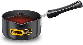 Futura Hard Anodised Sauce Pan, 1 Litre (8901165103303 Black)