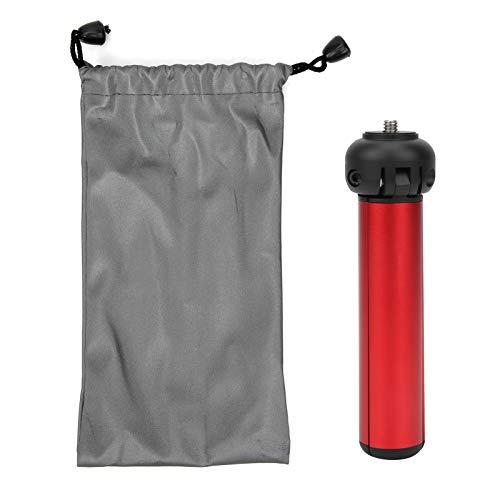 Trípode de Escritorio, trípode de Escritorio de aleación de Aluminio, Tacto de la Mano para teléfono móvil Cámara de Viaje al Aire Libre(Mini Version Red)