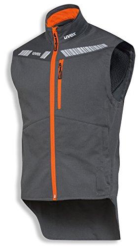 uvex Safety metal 8942 Leichte Arbeitsweste, 88% Baumwolle, Sicherheitsweste für Herren und Damen, auch als Freizeitweste verwendbar, mit Reflektoren, Blau-Gelb, Größe L