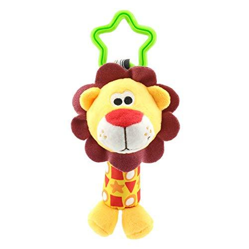 Cartoon Baby Speelgoed 0-12 Maanden, Gevulde Gevulde Kinderen Rammelaar Wandelwagen Opknoping Speelgoed, Pasgeboren Baby Vroege Educatieve Pop Geschenken 18X7Cm