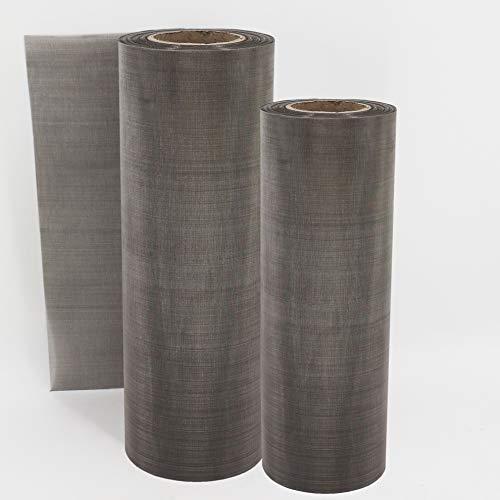 Aquagart Grillage en acier inoxydable 120 cm x 50 cm I Grille en acier inoxydable pour la construction de systèmes de filtration I Grille en acier inoxydable fabriquée en Allemagne pour tamis à arc de bassin I Épaisseur du fil 0,22 mm Largeur des mailles 300 µm