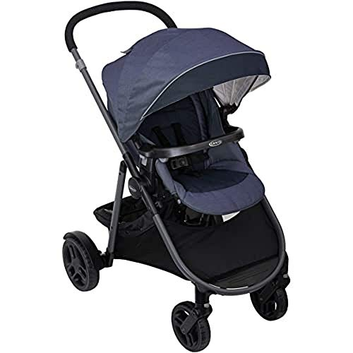Graco Time2Grow Pushchair/Stroller (Birth to 4 Years Approx., 0-22 kg), Compatible with Car Seat, Carrycot and Toddler Seat, Denim
