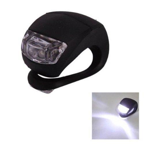 Dcolor Mini Lampe LED pour velos Impermeable Double lumieres LED Blanches en Silicone