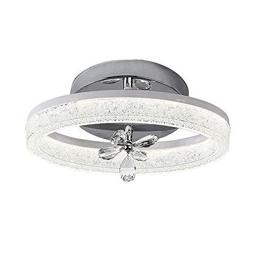LED Modern Schlafzimmer Dekorationen Kristall Deckenleuchte, Oval Neutralweiß Licht Deckenlampe, Gang Flur Balkon Kleine Decken Lampe, Moderne Ring Deckenbeleuchtung, Chrom Dekorativ Leuchten