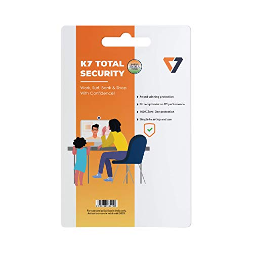 K7 Total Security – 1 PC, 3 Years (CD/Voucher)