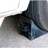 StickersLab - Cordolo ferma ruota cunei in gomma dura per veicoli...