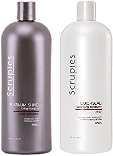 Scruples Platinum Shine Shampoo + Quickseal Conditioner 33 oz.