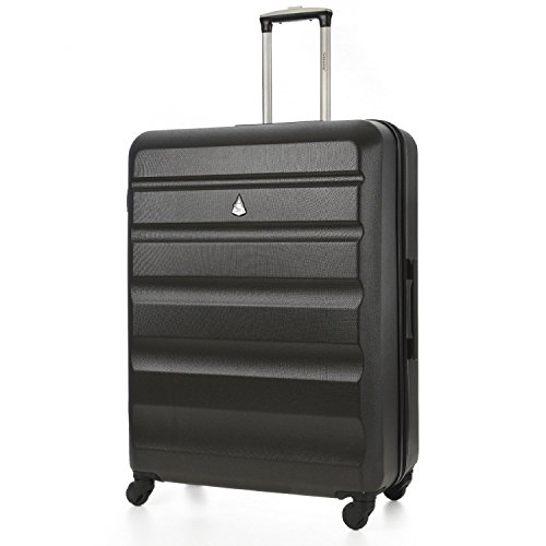 Aerolite Large Lightweight ABS Hard Shell Travel Hold Check in Luggage Spinner Suitcase with 4 Wheels, 29'