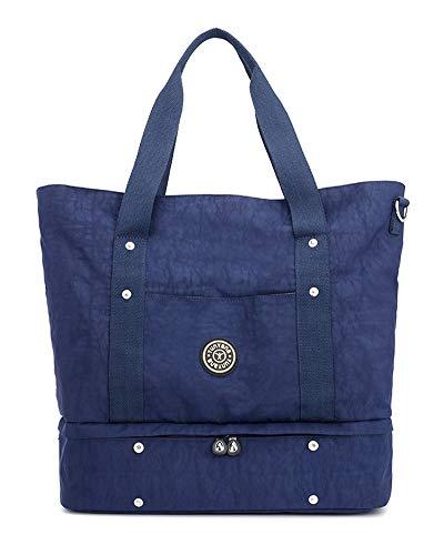 Damenhandtasche Baby Wickelrucksack Große Wickeltasche Schultertasche Boden ausziehbar Für Mama und Papa Dunkel Blau