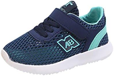 Sandalias de Verano Xinantime Zapatos de Cuero Suave para bebés Zapatos de Bebé para Primeros Pasos para Los Niños Zapatillas Deportivas Mesh Sport Air Running (23, Azúl)