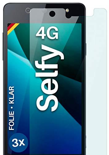 moex Klare Schutzfolie kompatibel mit Wiko Selfy 4G - Bildschirmfolie kristallklar, HD Bildschirmschutz, dünne Kratzfeste Folie, 3X Stück