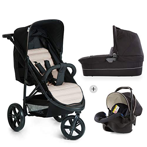 Hauck Rapid 3 Plus Trio Set Passeggino 3 in 1 a 3...