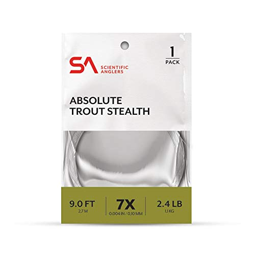 Scientific Anglers SA Absolute Trout Stealth Leader, 9ft, 5X - 3 Pack