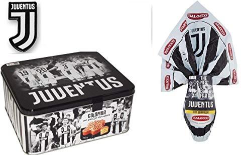 Pasqua Juventus 2019 - Colomba pasquale con gocce di cioccolato 750 gr + uovo di pasqua al latte Juventus 240 gr con fantastiche sorprese