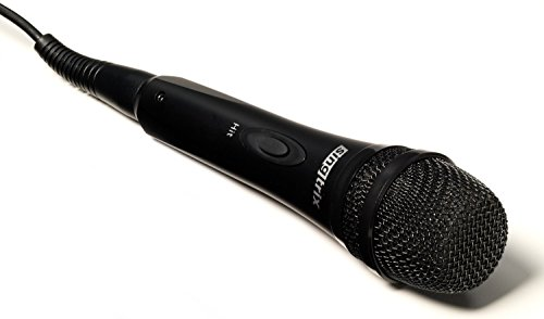 Singtrix Professional Karaoke Machine Microphone with Hit Button to Activate Effects and Voice Enhancements (SGTXMIC1)