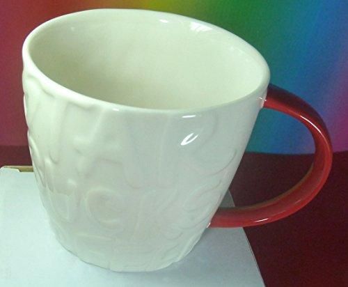 Starbucks Coffee Graffiti Mug Crhistmas 2015 White Mug Cup With Red Handle - 12 OZ 355 ML,Made In China,Limited Edition,Wonderful,New With Sku Label, BEST Christmas Edition 2015!!!!!