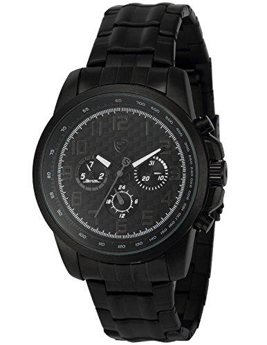 Saw Shark Sport Quarz Uhren Armbanduhr Herren Edelstahl LED Datumsanzeige 27-Stunden Anzeige SH183