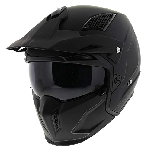 Helmet MT TR902XSV Streetfighter SV SOLID A1 SCHWARZ Matte GRÖßE M