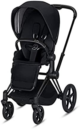 Cybex 2019 Priam 3 Complete Stroller in Premium Black with Matte Black Frame