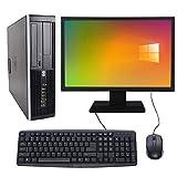 Complete set of 19in Monitor and HP 8300 SFF Quad Core i5-3470 8GB 500GB WiFi Windows 10 64-Bit Desktop PC Computer (Renewed)